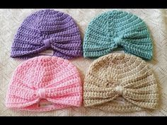 (Alternate Beginning) Baby Turban Tutorial. Crochet tutorial for people who do not know how to do the magic circle. Crochet baby turban crochet hat baby hat by BabyluvCo on Etsy Baby Turban Crochet Tutorial by Maddie, she is good job Maddie - You Tube Thi Turban Crochet, Bandeau Crochet, Easy Crochet Hat, Bonnet Crochet, Crochet Baby Booties, Crochet Beanie, Knit Crochet, Simple Crochet, Crochet Headbands