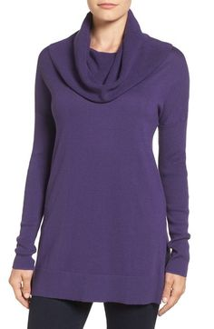 Caslon® Side Slit Cowl Neck Tunic (Regular & Petite) available at #Nordstrom