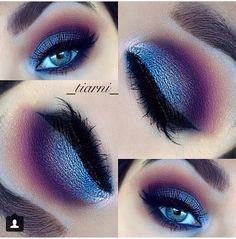 Bright purple and blue (Instagram _tiarni_ )
