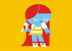 Thiago Luporini Illustration. Ginger girl.