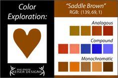 Eva Maria Keiser Designs: Explore Color:  Saddle Brown
