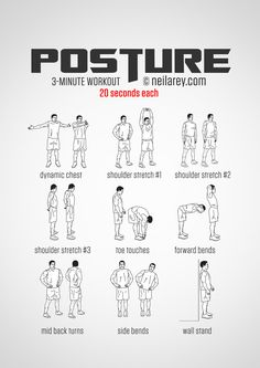 Posture workout, helps release muscle tension.