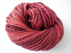 Handspun Yarn Sportweight Polwarth Mulberry by DebbieBHandspun, $40.00