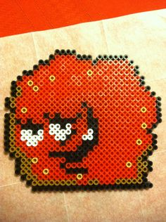 Items similar to Aqua Teen Hunger Force Meatwad Perler Bead on Etsy Melty Bead Designs, Melty Bead Patterns, Pearler Bead Patterns, Perler Patterns, Beading Patterns, Perler Bead Art, Perler Beads, Pixel Art, Aqua Teen Hunger Force