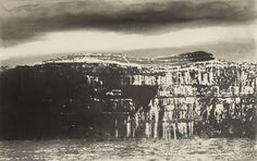 Cliffs of Aran Black Fort Norman Ackroyd Dark Landscape, Abstract Landscape, Devine Comedy, Norman Ackroyd, Etching Prints, English Artists, Contemporary Abstract Art, Gravure, Light In The Dark