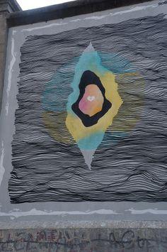 """ROSH333 en el Proyecto """"Muros"""".#ArteTabacalera Promoción del Arte #ArteUrbano #StreetArt Madrid Día 5. #Arterecord 2014"""