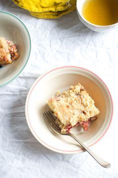 Strawberries and rhubarb Coffeecake
