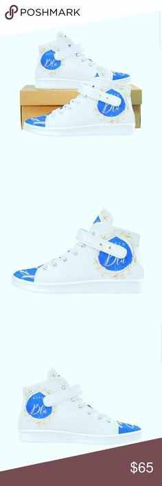 White High Top Aspen Blu WHITE HIGH TOPS ASPEN BLU NEW LYRA WOMEN'S CLOTH SHOES & Other Stories Shoes Athletic Shoes