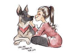 Karoline Pietrowski Illustration — Me and my boy.♥ | via Tumblr