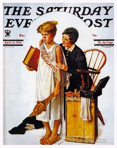 The Spirit of Education by Norman Rockwell, April 21, 1934, The Saturday Evening Post.
