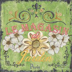 Le Magasin De Jardin Painting  - Le Magasin De Jardin Fine Art Print