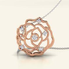 Buy Diamond Shimmery Rosette Pendant Jewellery Online - Caratstyle.com