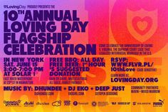 Loving Day Flagship Celebration 2013 Invitation, design by Ken Tanabe www.kentanabe.com