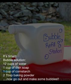Bubbles refill station