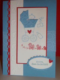 """Geburtstagskarte,   Geburt,Taufe,.Karte von """"Schönes aus Stempel und Papier""""  auf DaWanda.com"""