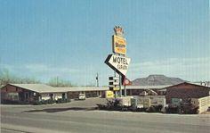 Vintage Postcard of Motel Safari,  Tucumcari OK, Route 66. Check out Motels of Route 66, interactive doc film & book #route66