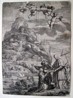 Athos Papst Alexander VII Kupferstich François Spierre Pietro da Cortona