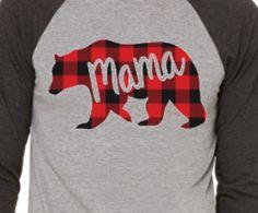 Mama Bear Shirt Buffalo Plaid Lumber Jack by CrookedArrowDesign 1st Birthday Parties, Boy Birthday, Birthday Ideas, Baby Shower Themes, Baby Boy Shower, Papa Bear Shirt, Lumberjack Birthday Party, Baby L, Bear Party