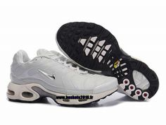 Nike Air Max Tn Requin Tuned 1 Chaussures Baskets2016 Pas Cher Pour Femme Blanc Argent