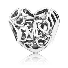 Pandora Silver Openwork Mum Charm 791519 UK Sale
