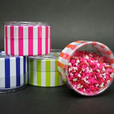 Round Striped Clear Favors
