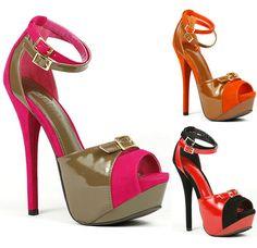 Color Block Ankle Strap Open Toe High Heel Platform Sandal Liliana Reseda-6