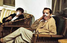 Джек Николсон и режиссер Роман Полански на съемках фильма 1974 года «Китайский квартал».
