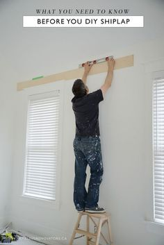 We've finally done it. We've jumped on the shiplap bandwagon that has overtaken the design world. If you've been reading here a while, you'll know that we are big fans of any type of trim, moulding, o