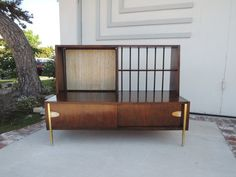 MID CENTURY MODERN Bookshelf or Media Stand Los Angeles by HouseCandyLA