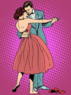 Buy Wedding Dance Lovers Man And Woman by studiostoks on GraphicRiver. Wedding dance lovers man and woman pop art retro style. Pop Art Vintage, Retro Vintage, Retro Fashion, Fashion Art, Dibujos Pin Up, Desenho Pop Art, Comics Vintage, Retro Pop, Retro Style