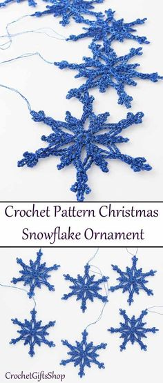 This pretty, delicate snowflake will make a beautiful accent to your Christmas tree or any holiday decor! You will want to crochet snowflakes for your tree, as gift wrap decorations, office decorations. Crochet Snowflake Pattern, Crochet Stars, Crochet Snowflakes, Crochet Quilt, Christmas Snowflakes, Thread Crochet, Crochet Flowers, Crochet Stitches, Knit Crochet