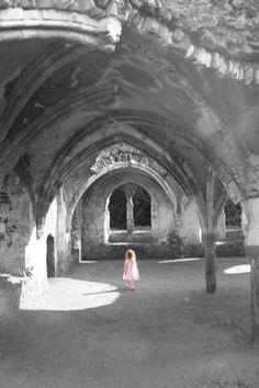 Little ghost girl at Waverley Abbey, Surrey