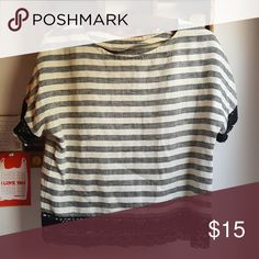 Handmade Striped Top Love this cute handmade French inspired boxy top! Fits like a medium, high quality fabric, barely worn. Tops