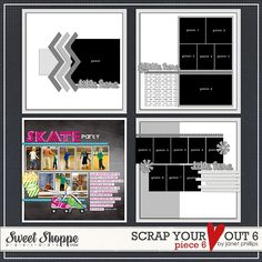 SCRAP YOUR HEART OUT 6 -- piece 6 by Janet Phillips