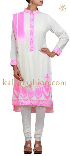 Buy it now  http://www.kalkifashion.com/white-suit-with-resham-embroidery.html  White suit with resham embroidery