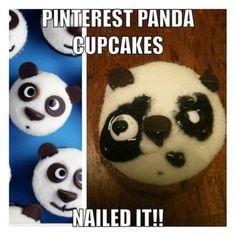 ideas funny fails expectation vs reality nailed it Panda Cupcakes, Animal Cupcakes, Kid Memes, Funny Memes, Hilarious, Jokes, Pin Fails, Baking Fails, Food Fails