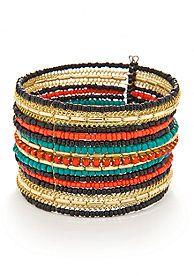 Red Camel® Multi Row Cuff Bracelet