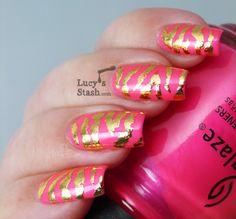 Lucy's Stash - gold zebra print