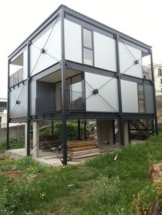metal barn homes Prottipo Shipping Container Home Designs, Cargo Container Homes, Container Buildings, Container House Design, Steel Structure Buildings, Structure Metal, Metal Buildings, Metal Barn Homes, Metal Building Homes