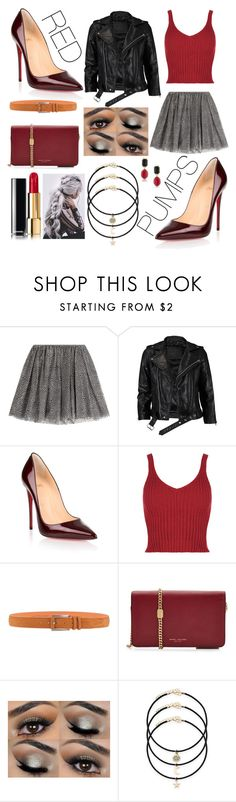 """""""Red Pumps!"""" by nikeshax33 ❤ liked on Polyvore featuring RED Valentino, VIPARO, Christian Louboutin, Fabrizio Mancini, Marc Jacobs and 1st & Gorgeous by Carolee"""