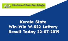 Looking for Kerala Win-Win Lottery Result? Welcome to State Lottery Draw Website. Kerala State published the