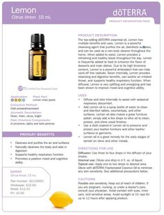 doterra tea tree   uses | doTERRA Lemon Essential Oil 15 ml - My Natural Family