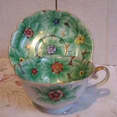 Tea Cups From Occupied Japan | Vintage Teacup Sets -Ardalt Hand Painted Occupied Japan