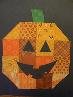 Scrapbook Squares Pumpkin (from Mrs. T's First Grade Class)