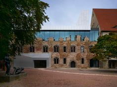 Moritzburg Museum Extension designed by Nieto Sobejano Arquitectos. Architecture Old, School Architecture, Halle, Extension Designs, Building Renovation, Adaptive Reuse, Old And New, Restoration, Contemporary