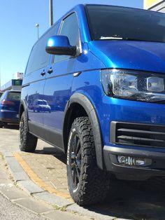 Off road tyres with spoked alloys Volkswagen Multivan T6, Vw T4 Syncro, T3 Vw, Volkswagen Group, 4x4 Camper Van, Bus Camper, Vw Transporter Van, Vans California, Adventure Car