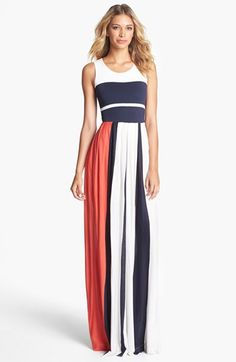 French Connection 'Medina' Stripe Maxi Dress available at #Nordstrom