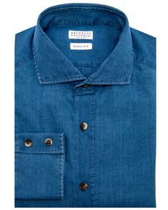 Image of Brunello Cucinelli Denim Dress Shirt