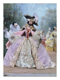 The Masked Ball (18th century costumes) by Georges Clairin Item #: 6287141