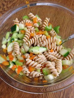 Rotini ... A pasta salad made with the new, unrestricted rotini! So filling and yummy. I tossed my two cups of veg with some EVOO, vinegar, sea salt and spices and it was great! Have you tried the rotini yet?